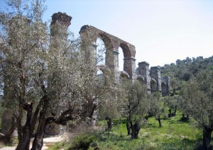 Roman Aquaduct at Moria © Lesvos Calendars
