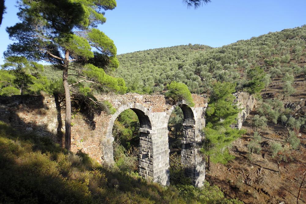 Roman Aqueduct near Lambou Mili  Lesvos   169 Lesvos CalendarsRoman Aqueduct