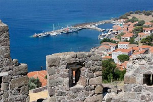 The vew of the harbour from Molyvos Castle