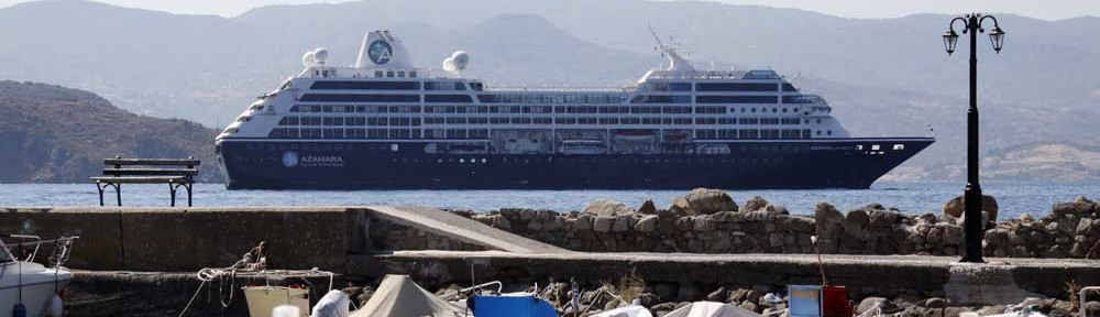 Cruise ship Azamara visits Molyvos
