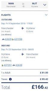 Aegean Airlines Low Fare Calendar